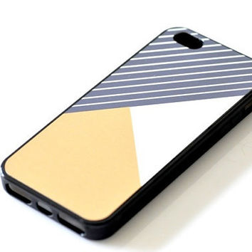 Color-blocking iPhone Case - Geometric Mustard Yello
