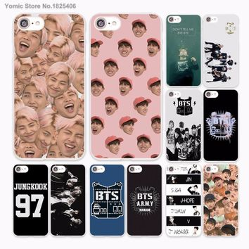 Bangtan Boys BTS Korean Design hard White Skin Case for Apple iPhone 6 6s Plus 7 7Plus SE 5 5s 5c phone case