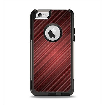 The Red Diagonal Thin HD Stripes Apple iPhone 6 Otterbox Commuter Case Skin Set