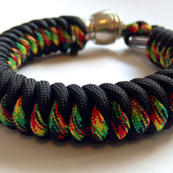 Black and Jamaican Me Crazy Secret Pipe Bracelet w/ FREE SHIPPING