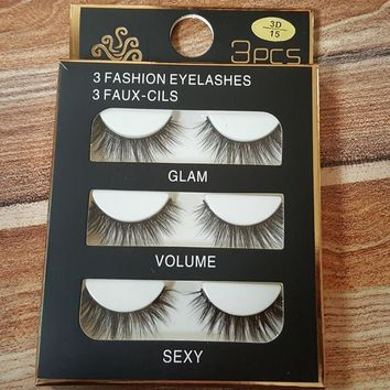 Thick Long Hot Sale Sexy Hot Deal Handcrafts Natural False Eyelashes [51395067916]