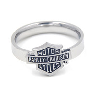 Harley Davidson Inspired Stainless Steel Unisex Ring - Biker Jewelry - SALE Only $9.99