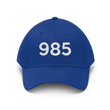 Louisiana 985 Area Code Embroidered Twill Hat