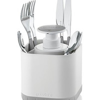 Guzzini My Kitchen Silverware Drainer Caddy with Removable Soap Dispenser
