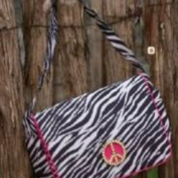 My Vintage Baby Zebra Diaper Bag
