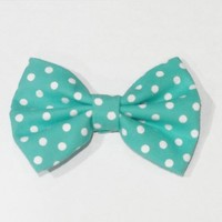 Mint Polka Dots from OHMYBOWS