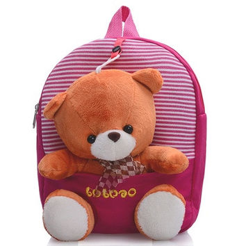 Baby Girl Boys Cartoon Teddy Bear Backpack Schoolbag [8081694919]