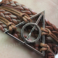 Harry potter Bracelet Deathly Hallows by itouchsoul on Etsy