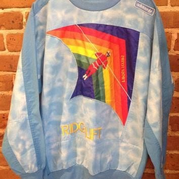 Adidas Vintage 80's T'ROSE Flyers Ridge Lift Pullover Sweat Shirt