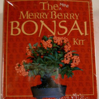 Mini XMas Merry Berry Bonsai Mega Kit Robert King Seeds Peat Pellet Scissor Book