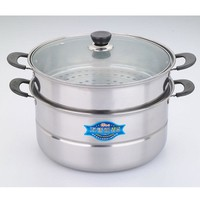 Stainless steel double boilers cooking steamers pots and pans rice cooker