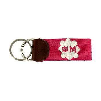 Phi Mu Needlepoint Key Fob in Pink by Smathers & Branson