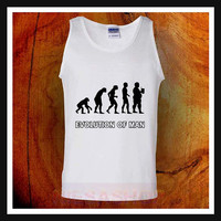 evolution man beer tank top, evolution man beer tank top, unisex adult tank top, workout tank top, mens tank top, womens tank top