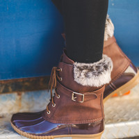 Dylan's Favorite Fur Duck Boots (Brown)