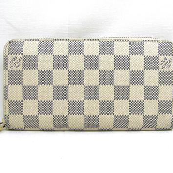 LOUIS VUITTON Zippy Long Wallet Purse Damier Azur N60019