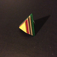 Recycled Skateboard Pin