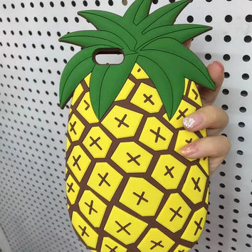 Unique Pineapple Silicone iPhone 5s 6 6s Plus Case Cover Free Gift Box 40