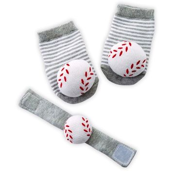 Baseball Wrist Rattle & Sock Set