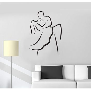 Vinyl Decal Dance Wedding Waltz Ballroom Art Decoration Wall Stickers Unique Gift (i012)