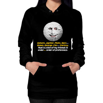 Mighty boosh the moon Hoodie (on woman)