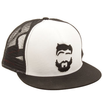 Barba Norteña Clásica Hat in White/Black