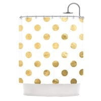 "KESS Original ""Scattered Gold"" Shower Curtain"