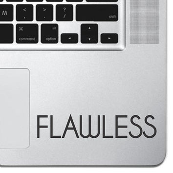 "Flawless Sticker Decal MacBook Pro Air 13"" 15"" 17"" Keyboard Keypad Mousepad Trackpad Laptop Decal Retro Vintage Inspirational Text Quote"