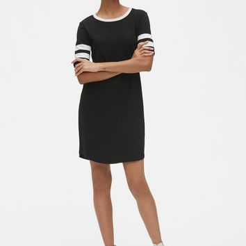 Varsity Stripe Short Sleeve T-Shirt Dress | Gap