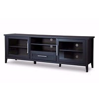 Espresso TV Stand?One Drawer By Baxton Studio