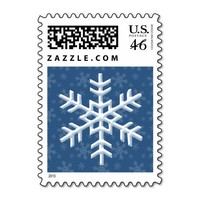 Snowflake Postage Stamps