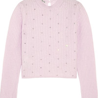 Miu Miu - Crystal-embellished cashmere sweater