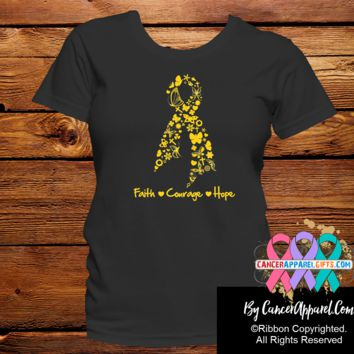 Childhood Cancer Faith Courage Hope Shirts