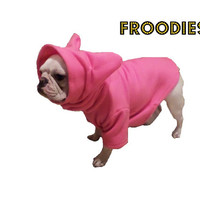 French Bulldog Boston Terrier FROODIES HOODIES USA Hot Pink Diva Fleece Sweatshirt Jacket Coat