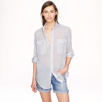 STRIPE OVERSIZE COVER-UP
