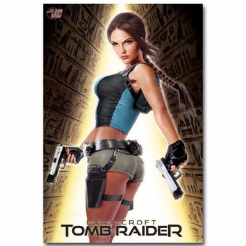 J1710- Lara Croft Tomb Raider Movie Pop 14x21 24x36 Inches Silk Art Poster Top Fabric Print Home Wall Decor