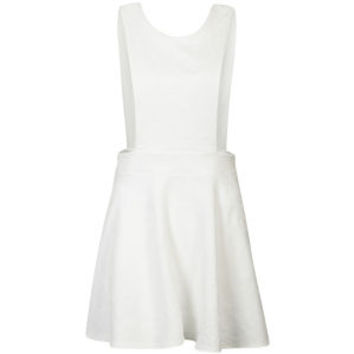 AX Paris Women's Embossed Pinafore Dress - Cream 			Womens Clothing | TheHut.com