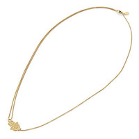 Alex and Ani Hand of Fatima Pull Chain Necklace 14kt Gold Plated