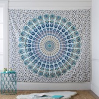 Printed Tapestry, Blue/Green