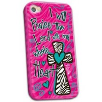 Cherished Girl Praise The Lord Christian iPhone 4/4s Case