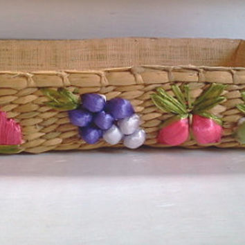 Beautiful Wicker Woven Burlap Lined Casserol Dish Holder/Carrier