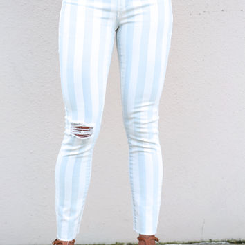 Carly Striped Skinnies By Articles Of Society {Doyle}