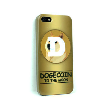 Dogecoin To The Moon, iphone 4 case, iphone 5 case