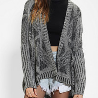 Urban Outfitters - Sparkle & Fade Geo-Plated Open Cardigan