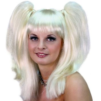 Baby Doll Pigtail Blond Wig