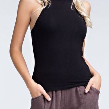 Ciara Modal Knit Tank in Black