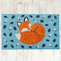 Rusty the Fox Door Mat at Urban Outfitters
