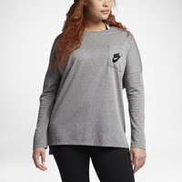 The Nike Sportswear Signal (Plus Size) Women's Long Sleeve Top.