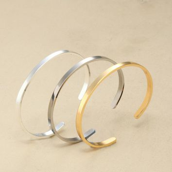 Blank Cuff  Stainless Steel Bracelets Bangles