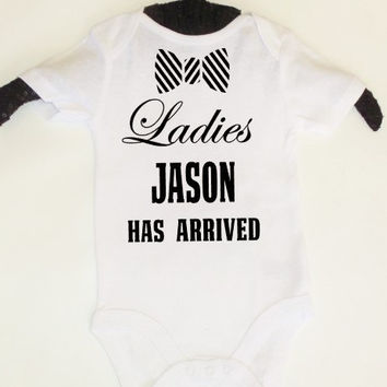 Personalized Name Onesuit boys newborn coming going home shirt outfit