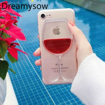 3D Liquid Cocktail Bottle Flow Red Wine Phone cases For iphone 6 6S 7 PlusFor iPhone SE 5 5S 7 8 phone Cover Capa Fundas Coque